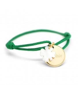 Petits Trésors : bracelet Kids médaille trèfle