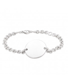 bracelet chaîne argent médaille à graver