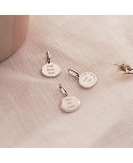 Médaille ovale argent Madeleine - Mon Petit Poids
