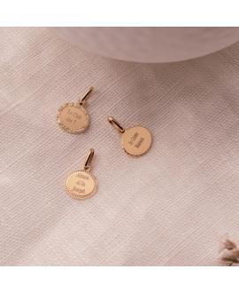 Médaille ovale plaqué or jaune Madeleine - Mon Petit Poids