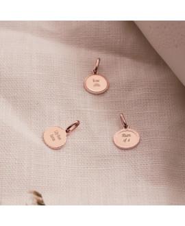 Médaille ovale plaqué or rose Madeleine - Mon Petit Poids