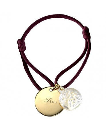 Petits Trésors : bracelet ange plaqué or