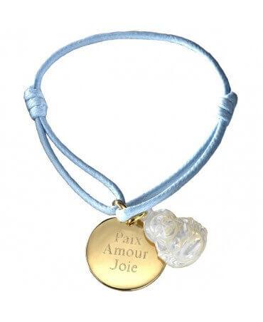 Petits Trésors : bracelet Buddha plaqué or