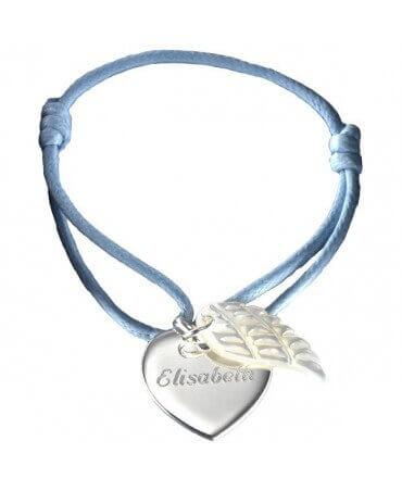 Petits Trésors : bracelet cœur d'ange argent