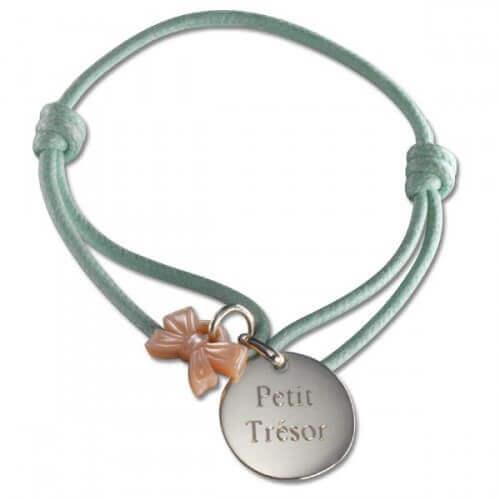 Petits Trésors : bracelet Kids ruban argent