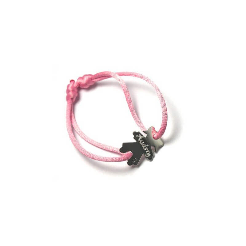 bracelet cordon personnage fille argent loupidou bracelet fille bijoux. Black Bedroom Furniture Sets. Home Design Ideas