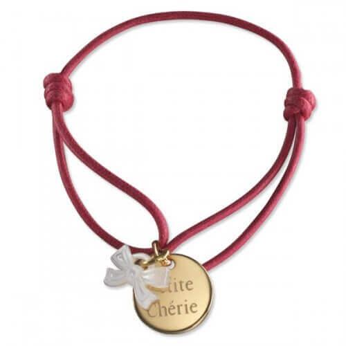 Petits Trésors : bracelet Kids ruban plaqué or