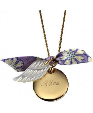 Petits Trésors : pendentif Aile d'ange plaqué or