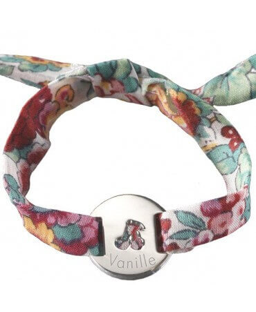 Petits trésors : bracelet liberty cerise