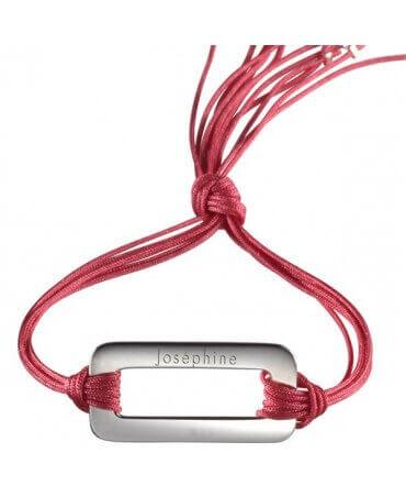 Petits Trésors : bracelet Rainbow rectangle argent
