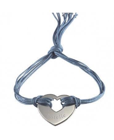 Petits Trésors : bracelet Rainbow coeur argent