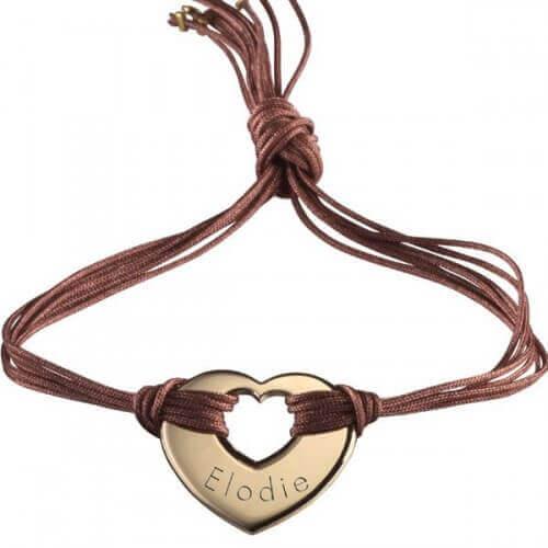 Petits Trésors : bracelet Rainbow coeur plaqué or