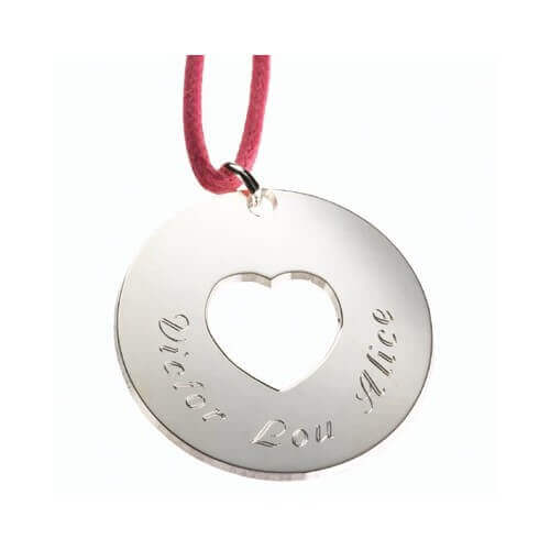 Petits Trésors : pendentif Message du cœur argent
