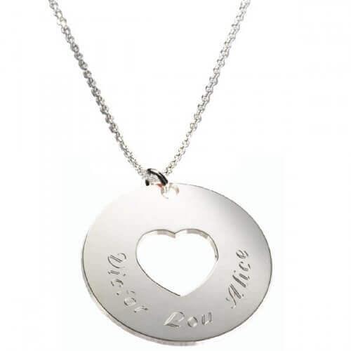 en soldes 877fb 22110 Pendentif cœur (argent) - Petits Trésors - pendentif personnalisé