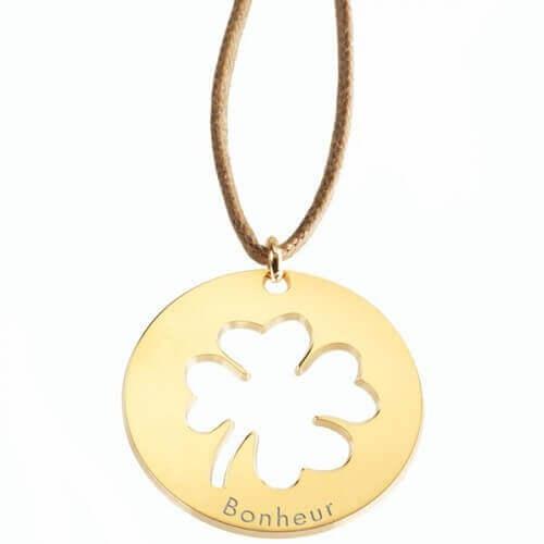 Petits Trésors : pendentif Lucky plaqué or