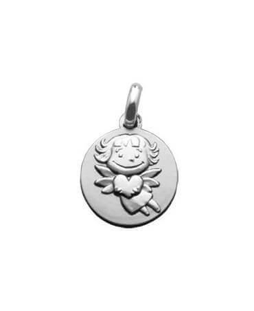 La Fée Galipette : médaille précieuse or blanc