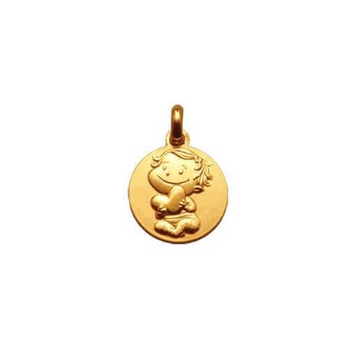 La fée galipette : médaille câline or jaune 9 carats