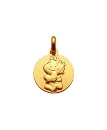 La Fée Galipette : médaille Rêveur or jaune 9 carats