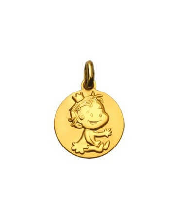La Fée Galipette : médaille curieuse or jaune 9 carats