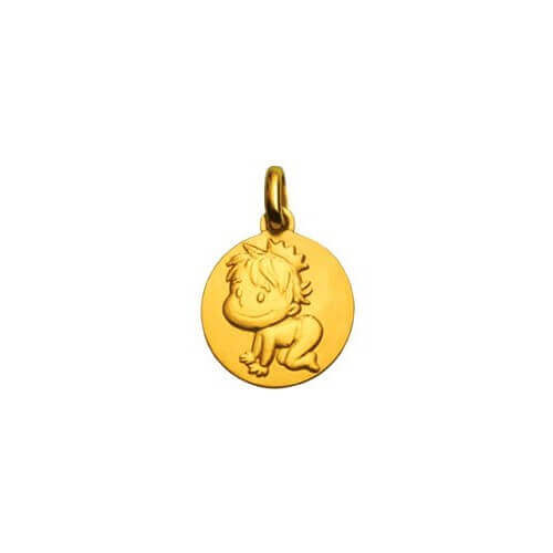 La Fée Galipette : médaille Blagueur or jaune 9 carats