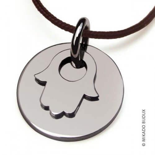 Mikado : pendentif Main de Fatma argent