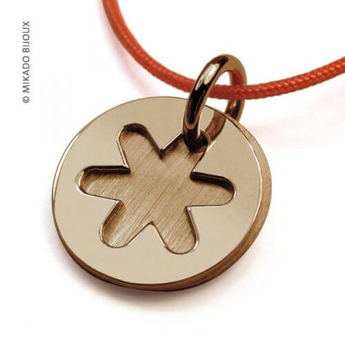 Mikado : pendentif Imagine or jaune