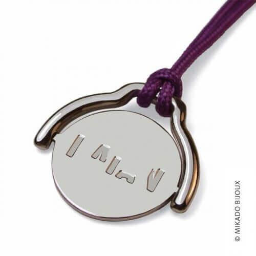 Mikado : pendentif Enigma argent
