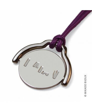 Mikado : pendentif Enigma or blanc