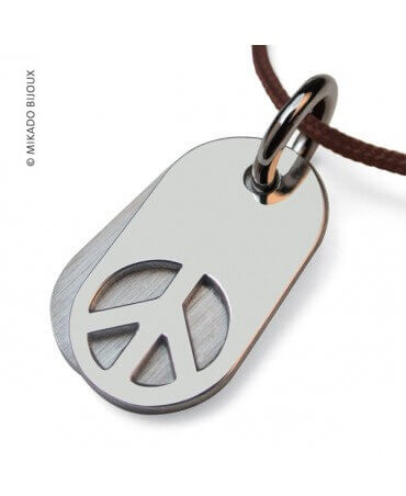 Mikado : pendentif Woodstock argent