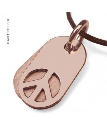 Mikado : pendentif Woodstock or rose