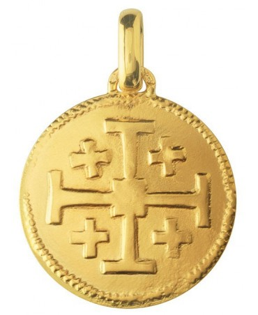 Monnaie de Paris : médaille Croix de Jérusalem (or jaune)