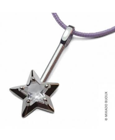 Mikado : pendentif Abracadabra argent