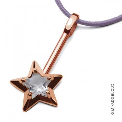 Mikado : pendentif Abracadabra or rose