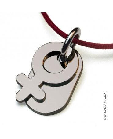 Mikado : pendentif Sex Symbol Fille (argent)