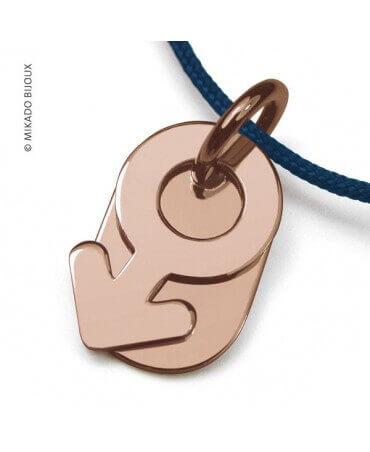 Mikado : pendentif Sex Symbol Garçon (or rose)