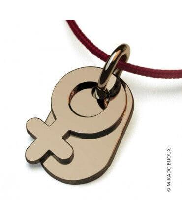 Mikado : pendentif Sex Symbol Fille (or jaune)