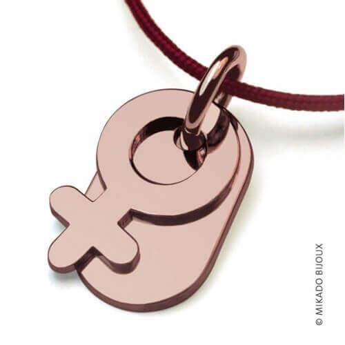 Mikado : pendentif Sex Symbol Fille (or rose)