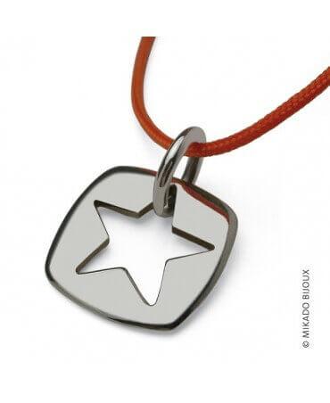 """Mikado : pendentif """"Che"""" étoile argent"""