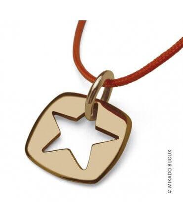 """Mikado : pendentif """"Che"""" étoile (or jaune)"""