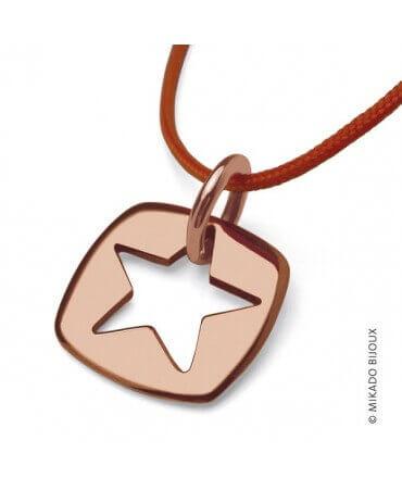 "Mikado : pendentif ""Che"" étoile (or rose)"