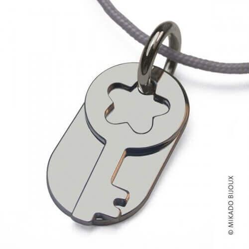 Mikado : pendentif Sésame clé (argent)