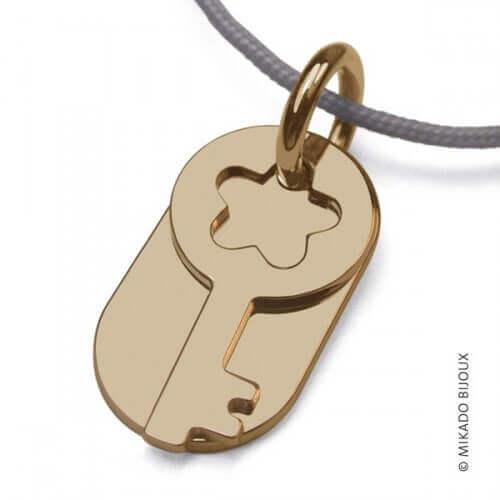 Mikado : pendentif Sésame clé (or jaune)