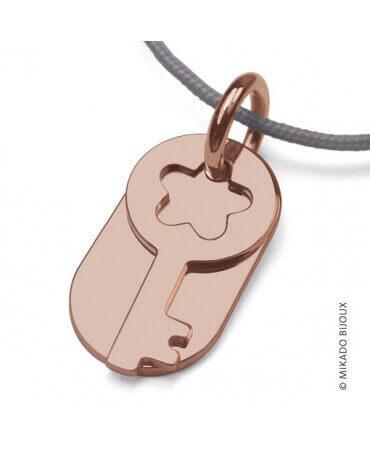 Mikado : pendentif Sésame clé (or rose)