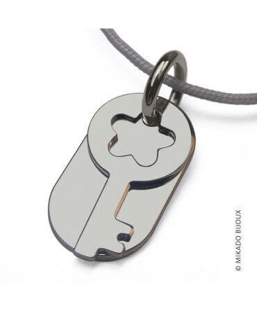 Mikado : pendentif Sésame clé (or blanc)