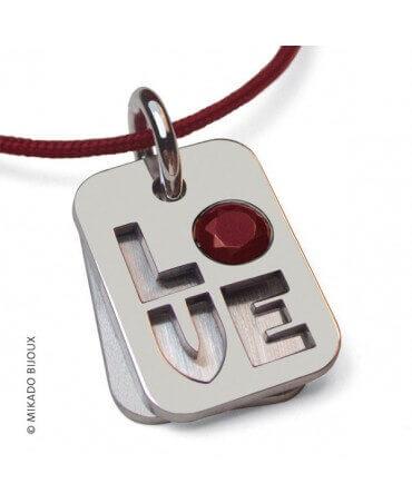 Mikado : pendentif Indiana Love (argent)