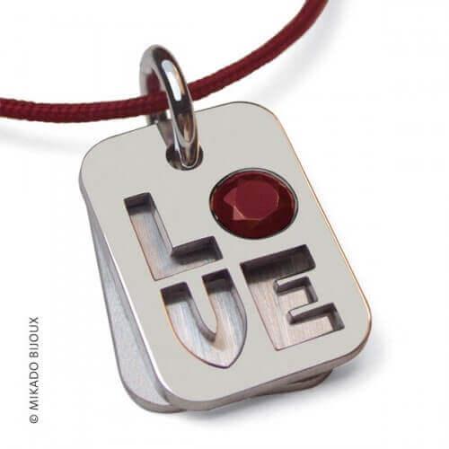 Mikado : pendentif Indiana Love (or blanc)