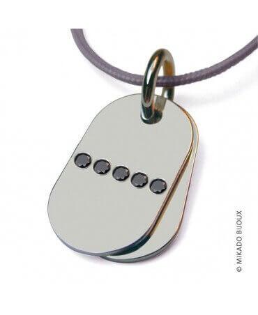 Mikado : pendentif Rambo (or blanc)