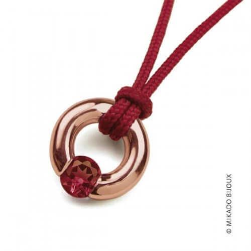 Mikado : pendentif Newborn (or rose)