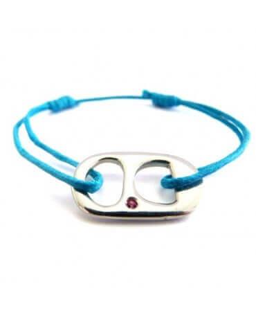 Rosset Gaulejac : bracelet tirette argent et saphir