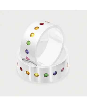 Rosset Gaulejac : bague Rainbow or